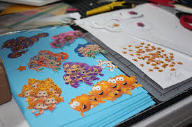 custom invites and designs by jessica bubble guppies under the