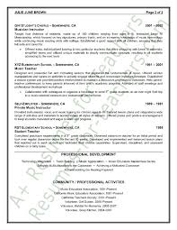 elementary resume exles sle resumes 2 exle template