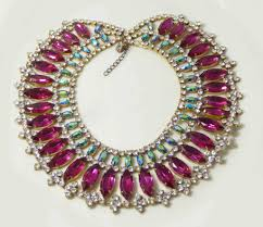 bib necklace rhinestone images Fuchsia and ab watermelon stones czech rhinestone bib necklace jpg