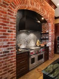 brick tile backsplash kitchen brick tile backsplash houzz