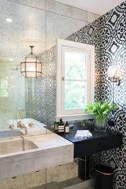 Mirror Wall In Bathroom Bathroom Accent Wall Design Ideas