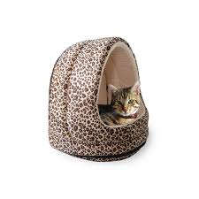 Animal Print Furniture by Amazon Com Petmaker Furry Canopy Cave Pet Bed Cheetah Cheetah