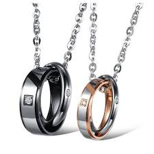 metal ring necklace images True love his hers promise necklace his hers jewelers jpg