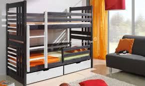 chambre enfant bois massif achat lit superpose 2 places en bois massif ludo finition graphite