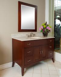 Traditional Bathroom Vanities by Metro 48 Inch Traditional Bathroom Vanity With Brown Cherry