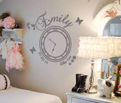 hold the moment with date of birth clock decals by ey date of birth memory clock baby girl wall art decal