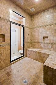 spa shower with steam bath traditional bathroom rock