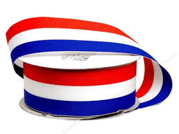 patriotic ribbon offray tri stripe woven ribbon 1 1 2 in patriotic 10 yards
