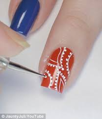 fourth of july nail art manicure inspiration daily mail online