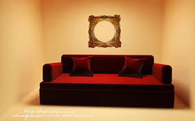 red velvet sofa by ahmed7 on deviantart