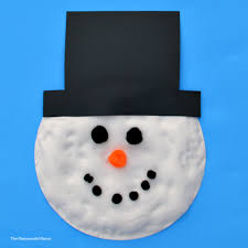 puffy paint snowman kid craft the resourceful mama