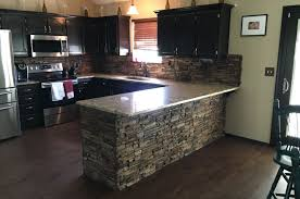 Stacked Stone Kitchen Backsplash Installing Stone Veneer Creative Faux Panels