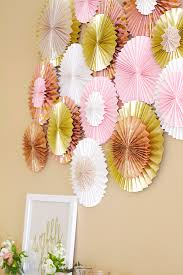 paper fan backdrop paper fan paper rosette diy dash of grace