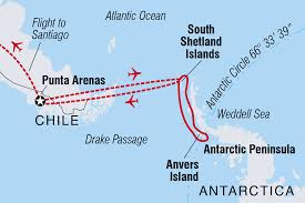 Endeavor Air Route Map by Antarctica Tours U0026 Travel Intrepid Travel Us