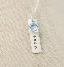 mothers necklace necklace sted sterling silver tag necklace