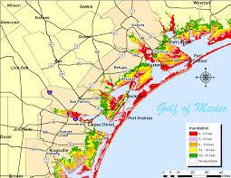 map of corpus christi surge maps coastal bend