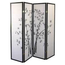 Risor Room Divider Ore International Black 4 Panel Bamboo Screen Room Divider Amazon