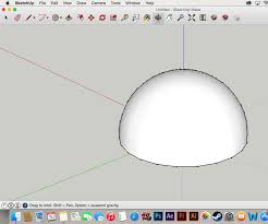 how to create a dome in sketchup 8 steps