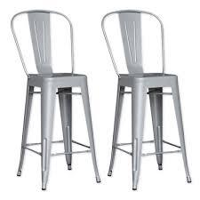 chaise m tal industriel tabouret bar aluminium maison design wiblia com