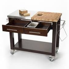 stainless steel kitchen island with butcher block top pro chef