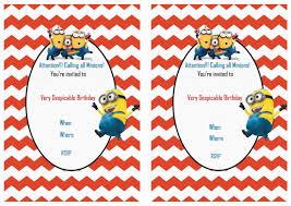 minions birthday invitations free printable invitation design
