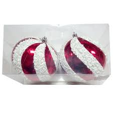 peppermint ornament 2 count 120 mm at home at home
