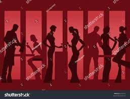 invitation cocktail party bar silhouette stock vector 6192772
