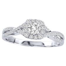 Wedding Rings For Her by Closeout Sale Half Carat Round Halo Engagement Ring For Her In