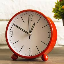 Small Desk Clock European Metal Small Desk Clock Contracted Mute Of The Of A