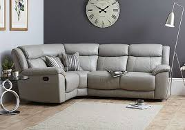Recliner Corner Sofas Bounce Compact Leather Recliner Corner Sofa World Of Leather