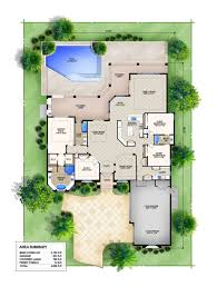 Pool Home Plans House Plans Mediterranean Style Homes Luxihome