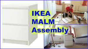 Kullen Dresser 3 Drawer by Ikea Malm Chest Of 2drawers Nightstand Assembly Youtube