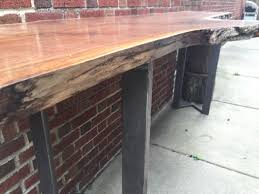 Wall Bar Table Custom Live Edge Slab Bar Table By Stockton Heritage Custommade Com