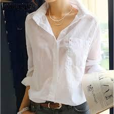 womens cotton blouses plus size white shirt fluid basic shirt at home service