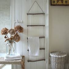 Driftwood And Rope Towel Ladder Driftwood Towels And House