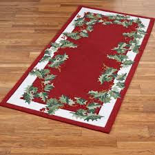 6 X 6 Round Area Rugs by Holly Border Hooked Christmas Area Rugs