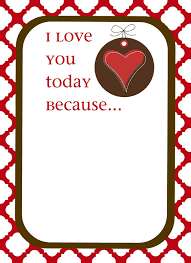 printable i love you because cards coloring pages
