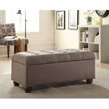Grey Tufted Ottoman Furniture Luxury Tufted Storage Bench For Modern Seat Design