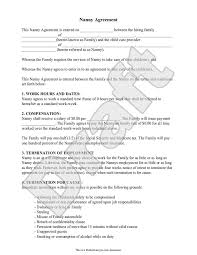 Nanny Job Description On Resume by Nanny Contract Sample Sample Nanny Contract Page 2 Nanny