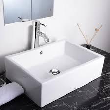 aquaterior bathroom porcelain ceramic vessel sink w chrome