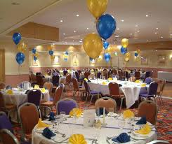 blue and gold decoration ideas balloon decoration ideas for function room balloons ideas