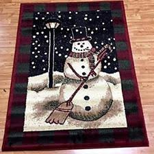 Snowman Rug Holiday Area Rugs Ebay