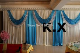 Blue Swag Curtains Blue Curtain Backdrop Decorate The House With Beautiful Curtains
