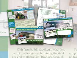 john t bergin graphic designer and web developer another piece of direct mail designed to generate leads for large agricultural buildings by offering a book of floor plans and ideas