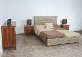 chambre en rotin têtes de lit chevets commodes armoires