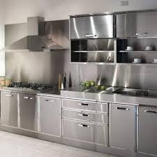 kitchen stainless steel kitchen cabinets intended for artistic