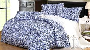 blue and white duvet covers the super soft leaves aqua flannel