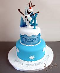 two tier fondant cake with fondant frozen character top frozen