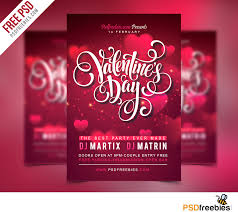 free flyer designs free valentines party flyer psd template psdfreebies com