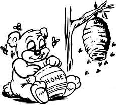 disney pooh bear enjoying sweet honey coloring pages disney pooh